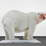 Katja Novitskova, Approximation (polar bear) 2017, digital print on aluminum, cutout display, acrylic glass 148x226x38 cm, Fondazione Sandretto Re Rebaudengo