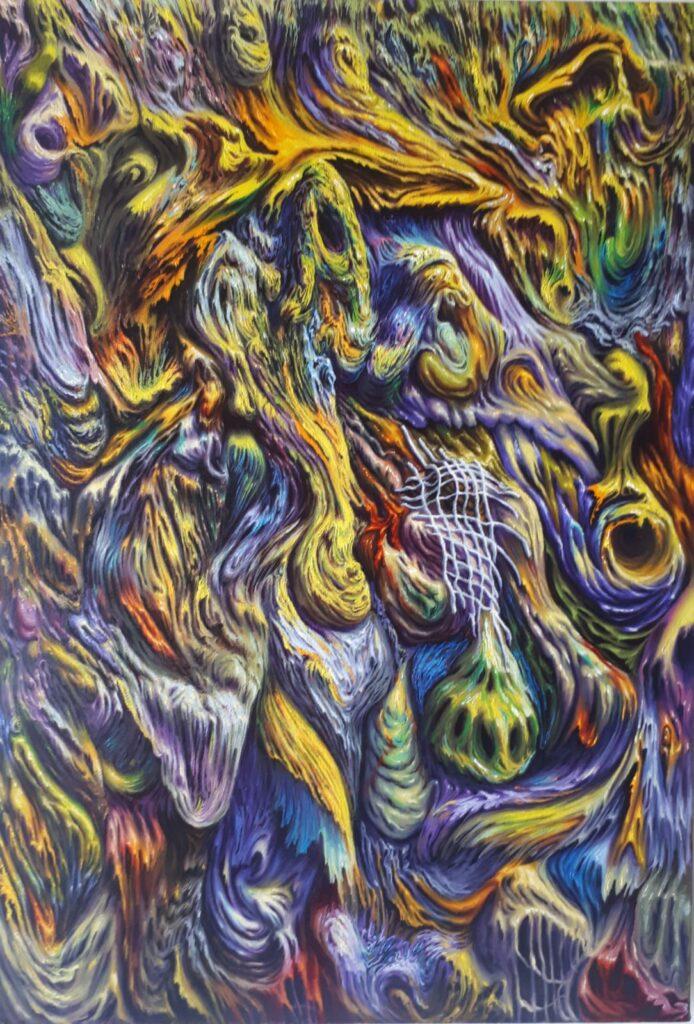 Fulvio di Piazza, A, 2020, olio su tela, 77x53 cm