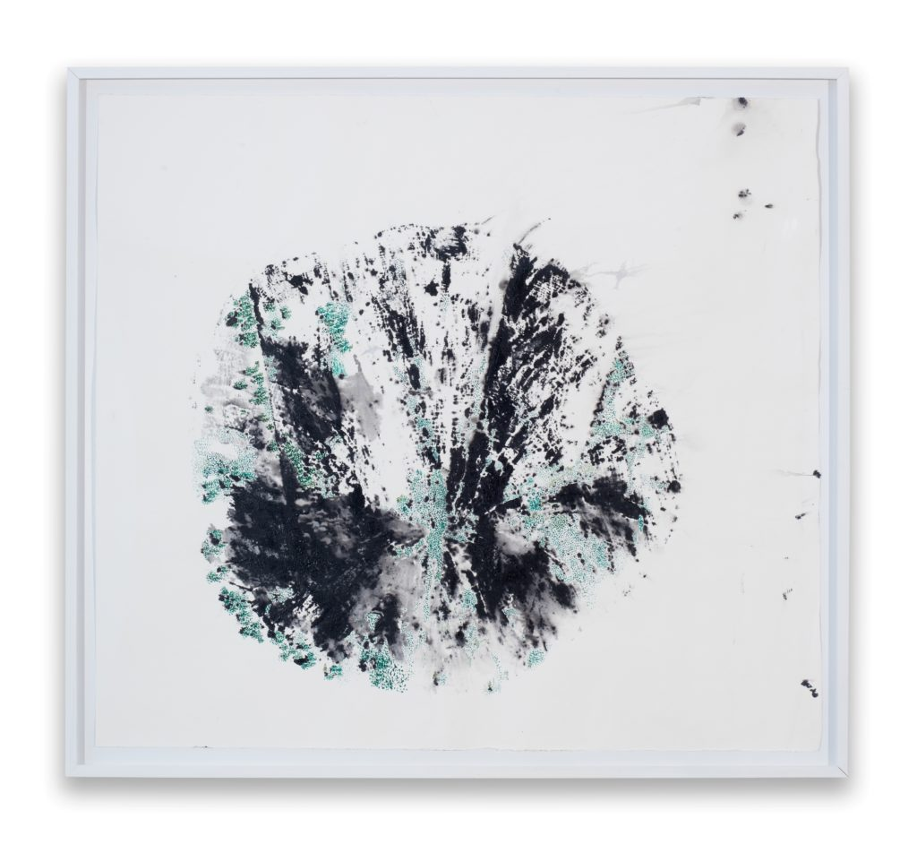 María Magdalena Campos-Pons, Because the human body is a tree. Spring Awakening I, 2019/20, mixed media on Arches watercolor paper 106,5 x 114,5 cm csy the artist and Galleria Giampaolo Abbondio photo-credits: Antonio Maniscalco