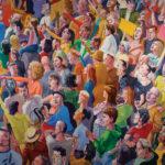 Alessandro Bazan, Gente, 2017, olio su tela, 200 x 250 cm