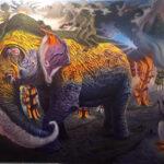 Fulvio di Piazza, EXODUS, olio su tela, cm 200x300