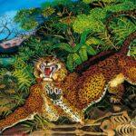 Antonio Ligabue, Leopardo, olio su faesite, 1955, cm 64x79,7