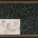 Ilya - Emilia Kabakov, The Chess Game, 2003, Drawing, Colour pencils on paper, 27×36,5 cm, Cortesy Galleria Lia Rumma