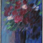 Alexej von Jawlensky (Torschok 1864 – 1941 Wiesbaden), Bouquet à l'heure bleu,1937, Oil on cardboard, signed and dated lower left: 'A. Jawlensky 37', 21.7 x 13.4 inch, Courtesy Thole Rotermund Kunsthandel