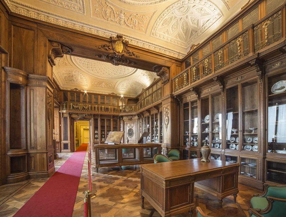 Biblioteca Reale, Appartamenti Reali, Foto di Mario Donadoni, ©Archivio Consorzio Villa Reale e Parco di Monza