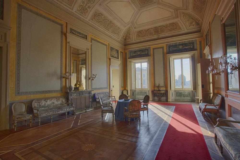 Sala del Biliardo, Appartamenti Reali, Foto di Mario Donadoni, ©Archivio Consorzio Villa Reale e Parco di Monza