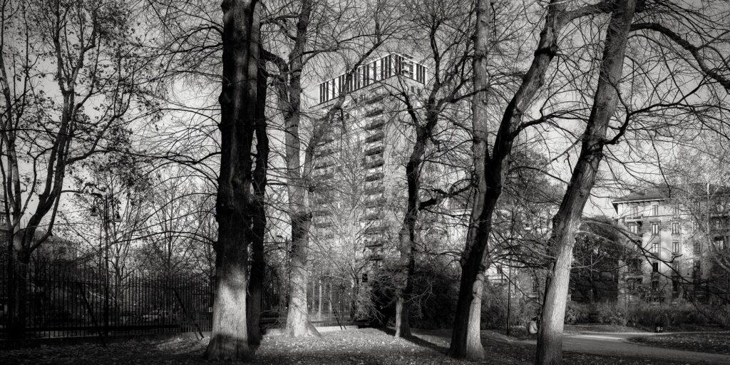 Matteo Cirenei, #19010216, Torre Baselli, Milano, 2019, Fotografia analogica, stampa Fine-art Giclée da scansione, 40x80cm, 1/9 + 2 PdA, Courtesy: dell'artista